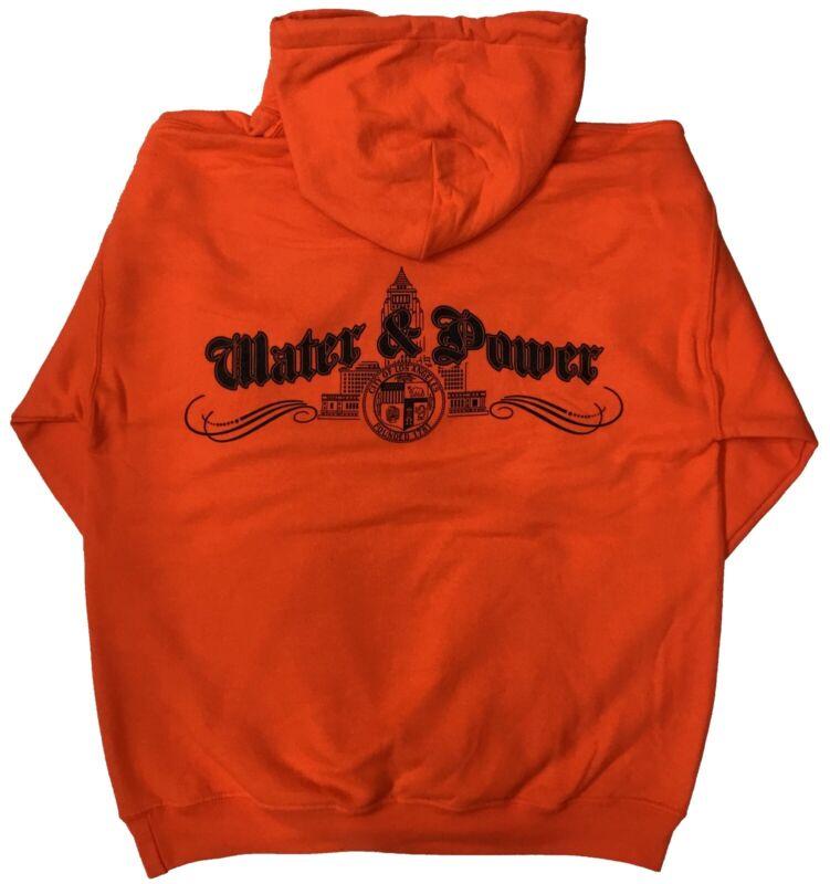 City of Los Angeles DWP Pullover Sweatshirt Hoodie Orange 3XL