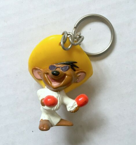Vintage Looney Tunes Speedy Gonzales Collectible Keychain Warner Brothers 1990s