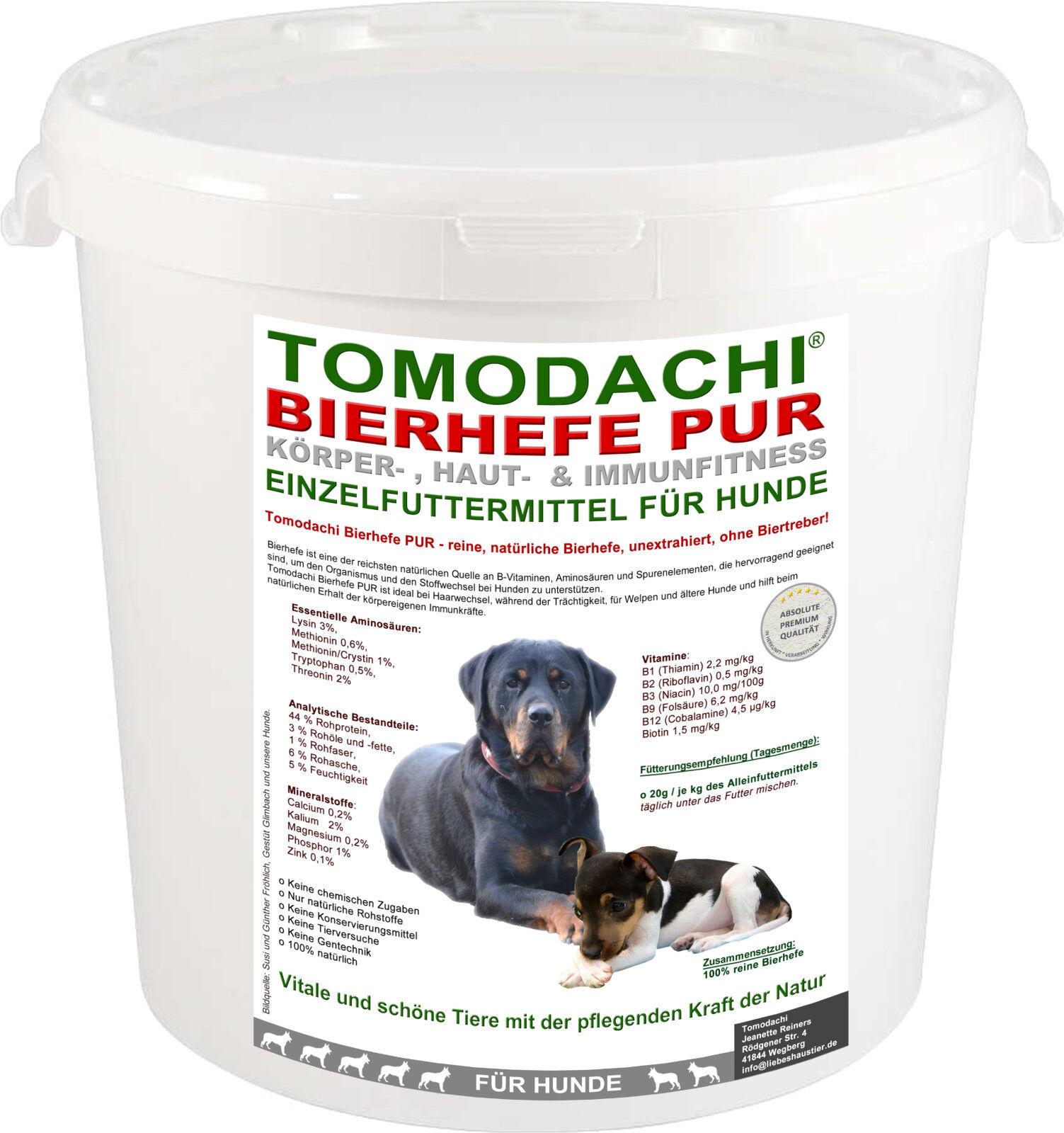 Reine Bierhefe Hund, BARFen, Aminosäuren+ Vitamine, Haut,Fell,Krallen, Zähne 3kg