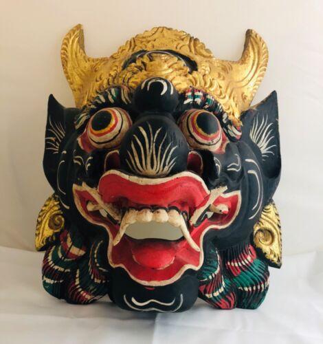 Wooden Asian Mask / Wall Art