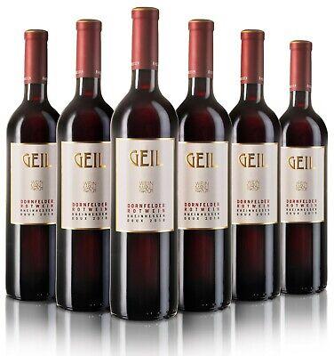(12,66€ / L) 6 Flaschen Geil Dornfelder Rotwein 2020 lieblich Johann Geil Wein