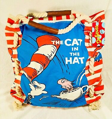 Dr Seuss Tote Bags (NWT RARE Brand NEW Dr. Seuss Large Tote Beach Market Hand Bag - Cat in The)