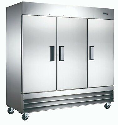 New Reach-in Solid Door Stainless Commercial Refrigerator Cooler Nsf Nib
