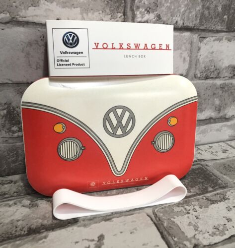Official Volkswagen VW Campervan Red Reusable Lunch Box Bamboo gift new