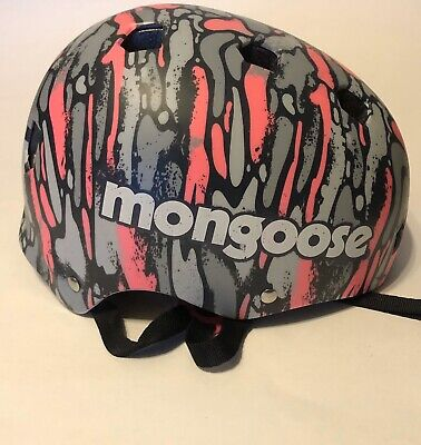 Mongoose Youth Bicycle / Skateboard Helmet — Pink Camo