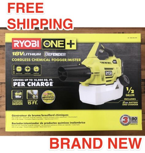 RYOBI ONE+ 18 Volt Cordless Fogger Mister With Battery & Charger P2850 Brand New