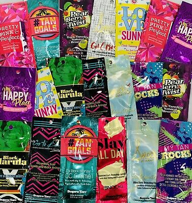 Supre Tan Indoor Tanning Lotion Sample Packets *Lot of 10* Different Samples  ()
