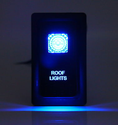Dual LED Backlit Laser Etched ROOF LIGHTS Rocker Switch - With Mounting Panel