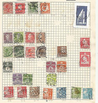 DENMARK -  lot of 29 STAMPS