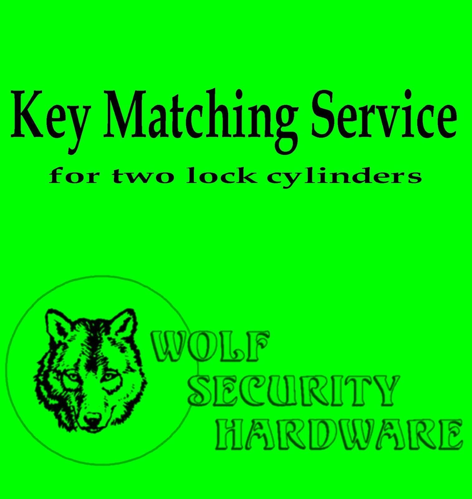 Key Matching Service Purchase After Pre Approval In Conjunction W/Lock Purchase