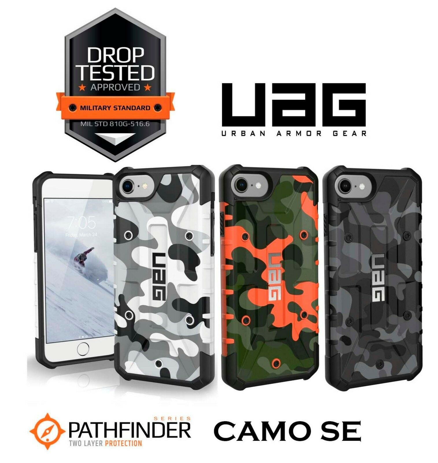 finest selection 5d211 b4d2f Details about UAG Pathfinder Camo SE Limited Edition Apple iPhone 8 / 7 /  6S / 6 Rugged Cover
