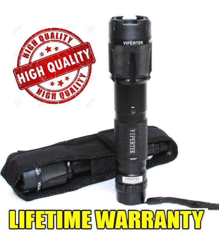 VIPERTEK Black 168 Billion Volt Metal Stun Gun w/ LED Light + Free Holster