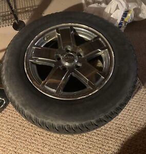 """Set of 4 17"""" Jeep rims with all season tires"""