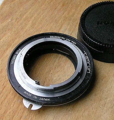 orignal early Tamron Adaptall  mount for Nikon F Nikkormat adaptor