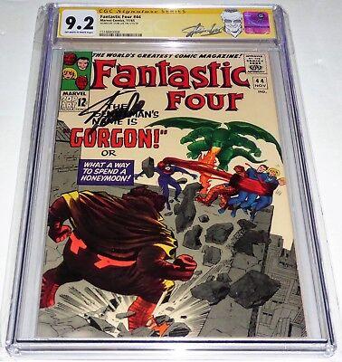 Fantastic Four #44 CGC SS 9.2 Signature Autograph STAN LEE 1st Gorgon Appearance