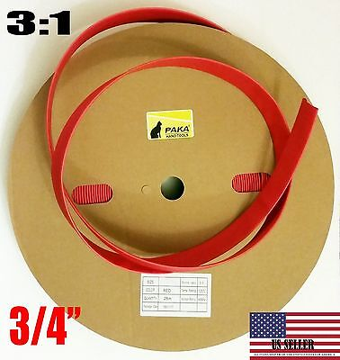 5 Feet - 34 Dual Wall Red Heat Shrink Tubing 31 Adhesive Glue Lined Tubes