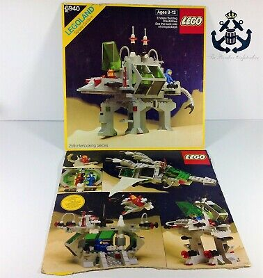 Lego Vintage Classic Space Alien Moon Stalker Box Front and Back For Set 6940-1