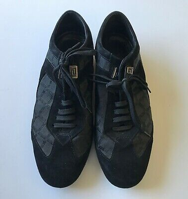 Versace Men's Black Shoes Made In Italy