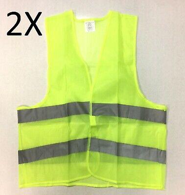 2X Fluorescent Safety Security Visibility Reflective Vest - Construction Traffic 2 Traffic Safety Vest