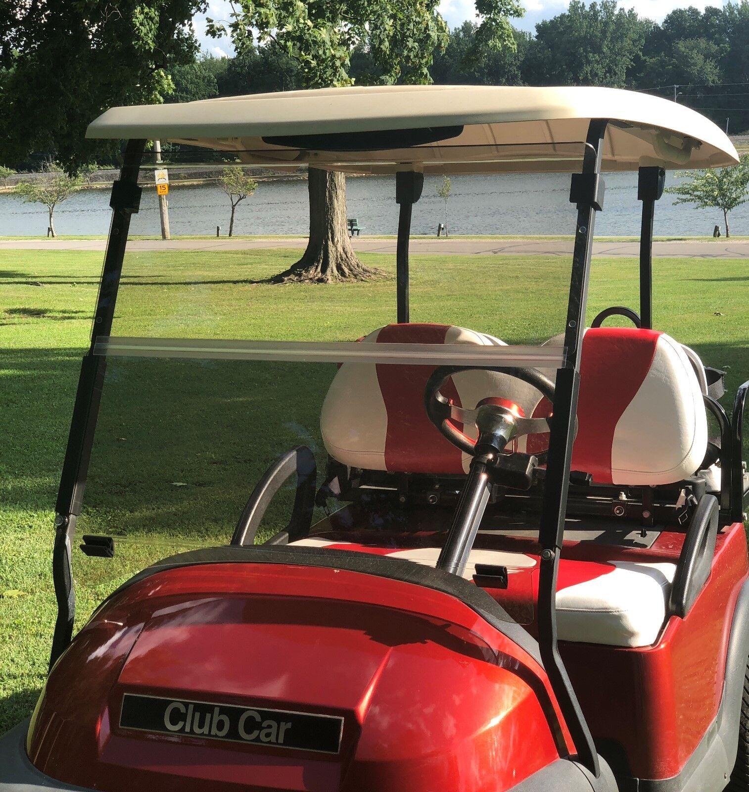 Club Car Precedent Tinted Folding Windshield For Golf Cart 04+  W/ Hardware