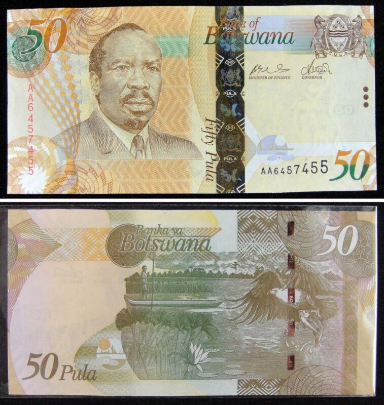 Botswana 50 Pula PAPER MONEY 2009 UNC