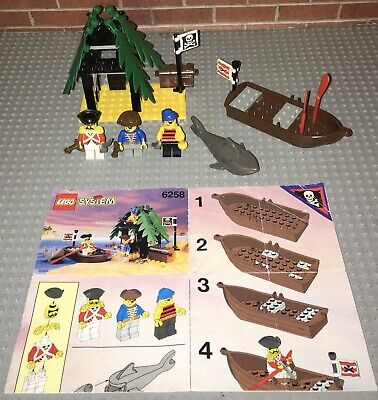 Lego 6258 Pirates Smuggler's Shanty Set Manual Minifigures Vintage