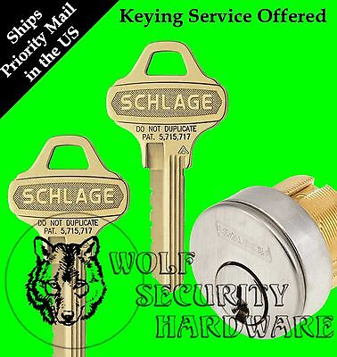 Qty 1 Schlage Mortise Cylinder 1 18 C123 Everest Keyway 626 1 Bitted