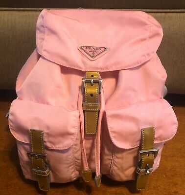 Authentic Prada Pink Back Pack Nylon