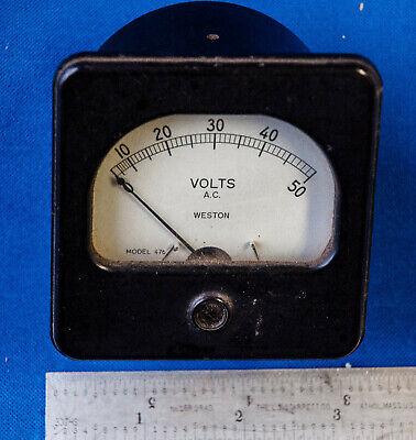 Weston Panel Meter 0-50 Volt Ac