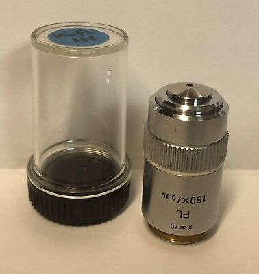 Leitz Plan Pl 160x Microscope Objective Lens 0 Infinity Germany Part 569176