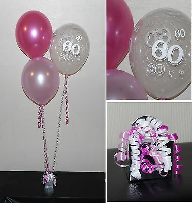 60th  Birthday Balloons - DIY Party Decoration Kit  Clusters For  5  - 15 Tables - Decorations For 60 Birthday