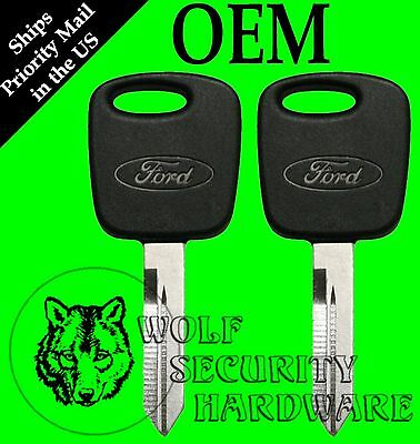 Lot of 2 Ford Oval Logo OEM PATS Transponder RFID Security Chip Key Blank 597602