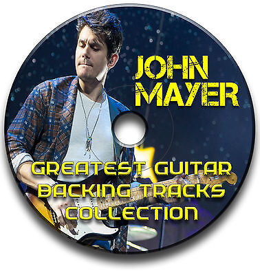 JOHN MAYER STYLE ROCK GUITAR AUDIO BACKING TRACKS CD COLLECTION LIBRARY