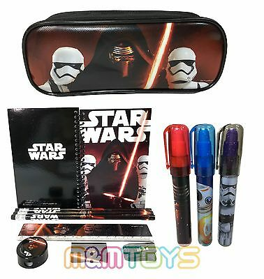 New Star Wars The Force Awakens School Pencil Pouch + Stationery + Eraser Set - Star Wars Pencils