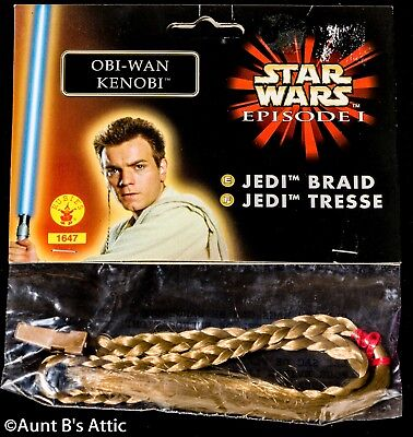 Jedi Braid Licensed Star Wars Blonde Braided Hair Attachment Obi-Wan Or Anakin](Jedi Braid)