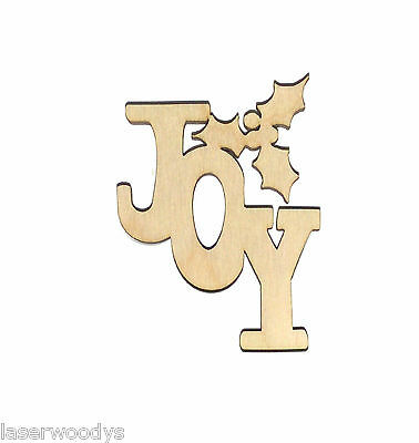 Christmas Joy Unfinished Wood Shape Cut Out J1610 Crafts Lindahl Woodcrafts