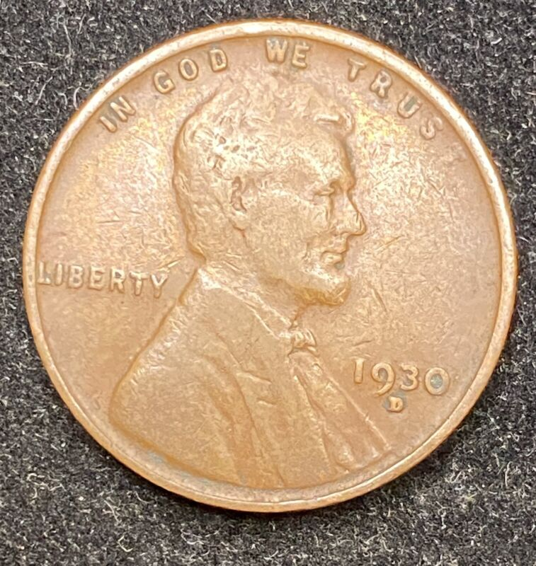 1930 D Lincoln Wheat Penny- Free Shipping