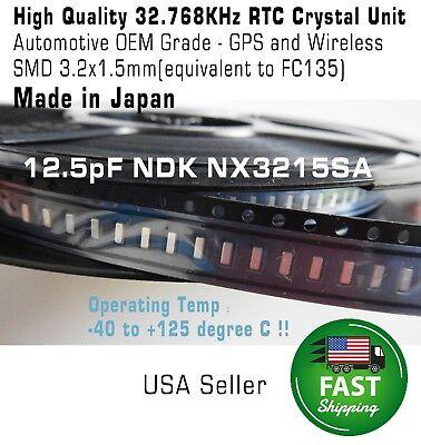 10pcs Crystal 32.768khz 12.5pf 20ppm 3215 3.2x1.5mm Rtc Smd Fc135