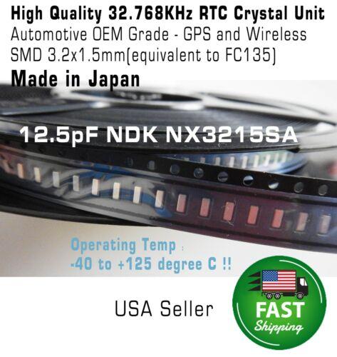 3 pcs Crystal 32.768KHz 12.5pF 20ppm 3215 3.2x1.5mm RTC SMD FC135