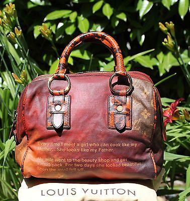 Louis Vuitton Richard Prince MANCRAZY Printemps Jokes Snakeskin LIMITED Bag FAB!