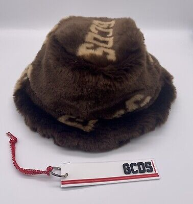 GCDS Logo Fur Hat New with Tag - Comes in Original Packaging