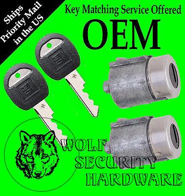 Chevy GMC C K Series Pickup 88-94 OEM Door Lock Key Cylinder Pair With 2 Keys