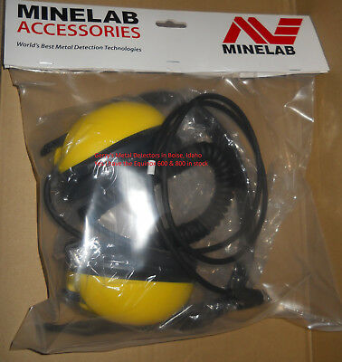 WATERPROOF HEADPHONES made by MINELAB for EQUINOX 600 & 800 METAL DETECTOR