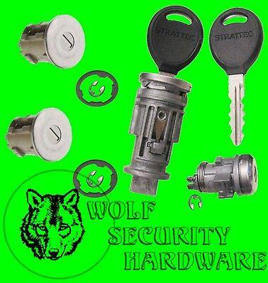 Usado, Cherokee Some 1998-01 Ignition Switch Lock Cylinder & Door & Rear Lock Set 2 Key segunda mano  Embacar hacia Mexico