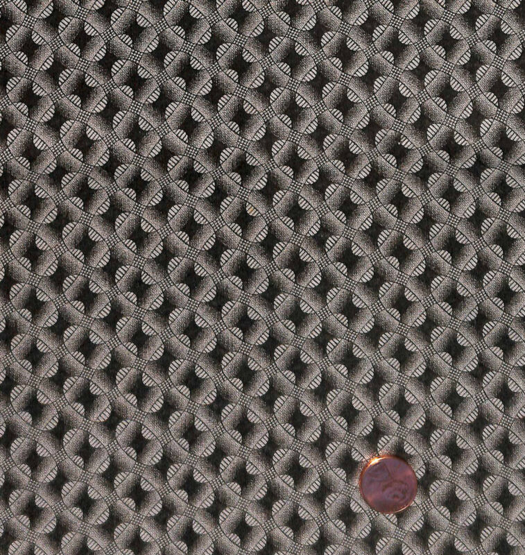 Antique 1870 Chocolate Brown Geometric Fabric