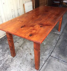 Solid wood table North Ryde Ryde Area Preview