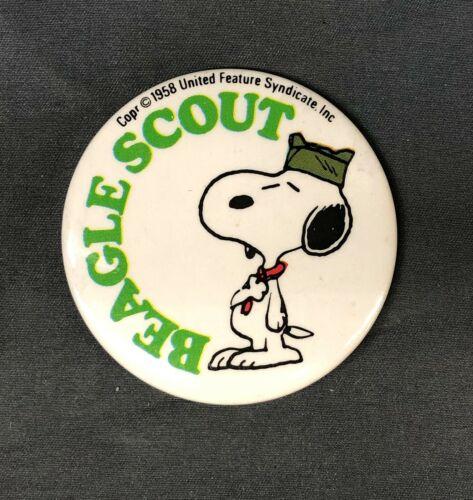 Boy Scout Beagle Scout Snoopy Pinback Button Pin