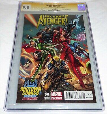 Uncanny Avengers #1 CGC SS Signature Autograph STAN LEE 9.8 Midtown Variant Book