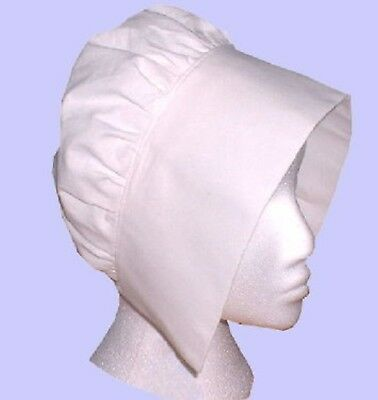 Ladies Tudor  Medieval Viictorian  Coif hat fancy dress costume white
