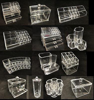 Clear Cosmetic Makeup Display Organizer Acrylic Drawers Case Box Jewelry Storage
